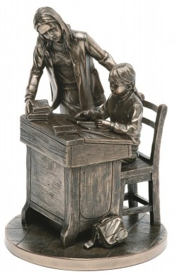 Picture of Teacher and Boy Bronze Figurine