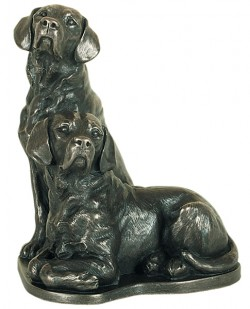 Picture of Pair of Labradors Bronze Ornament