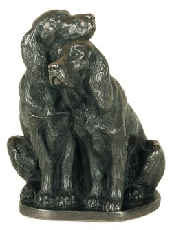 Picture of Pair of Spaniels Bronze Ornament