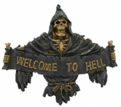 Picture of Gothic Wall Plaque - Welcome to Hell