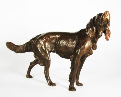 Picture of Setter Looking Up Bronze Ornament