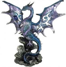 Picture of Blue Wise Dragon Figurine Alator