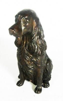 Picture of Spaniel Sitting Bronze Ornament