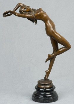 Picture of Graceful Nude Lady Bronze Figurine
