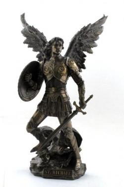 Picture of Archangel Michael Bronze Figurine 33cm