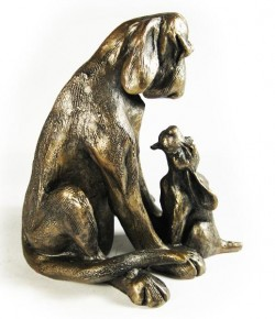Picture of Amber with Pup Dog Ornament