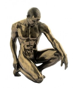 Picture of Melancholy Nude Male Bronze Figurine