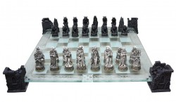 Picture of Vampire and Werewolf Chess Set