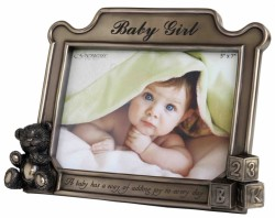Picture of Baby Girl Bronze Frame