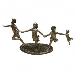 Picture of 4 Children Running Bronze Figurine (Juliana)