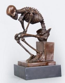 Picture of Thinker Skeleton Bronze Figurine (Rodin)