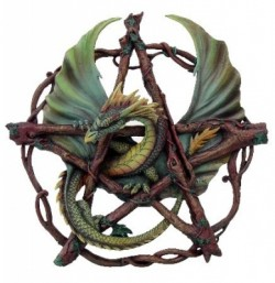 Picture of Forest Dragon Pentagram Wall Plaque (Anne Stokes)