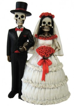 Picture of Eternally Yours Skeleton Figurines