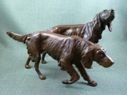 Picture of Pair of Setters Bronze Figurines