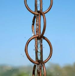 Picture of Rain Chain Ohm Copper Garden Ornament