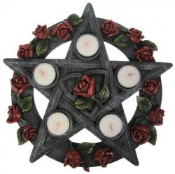 Picture of Pentagram Rose Tealight Holder 30 cm