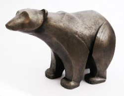 Picture of Polar Bear Standing Bronze Sculpture (Frith)