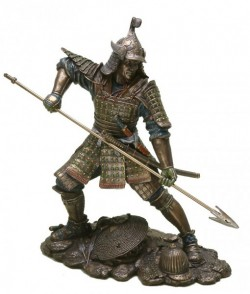 Picture of Samurai with Spear Bronze Figurine