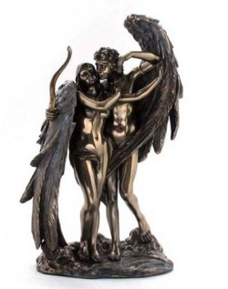 Picture of Cupid and Psyche Bronze Figurine