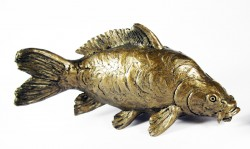Picture of Mirror Carp Bronze Figurine