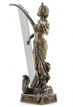 Picture of Cleopatra with Harp Bronze Figure 28 cm