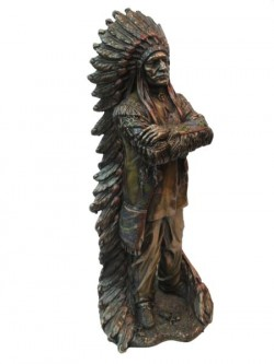 Picture of Proud Chief Bronze Figurine 30 cm