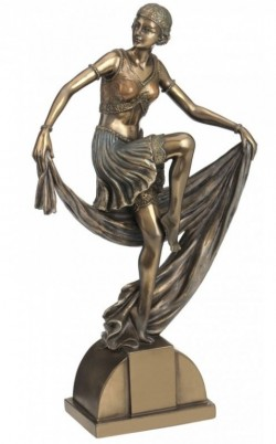 Picture of Art Deco Lady Dancing with Scarf 24 cm