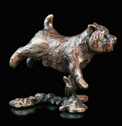 Picture of Westie Bronze Miniature (Butler and Peach)