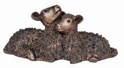 Picture of Twin Lambs Bronze Sculpture 18 cm Medium