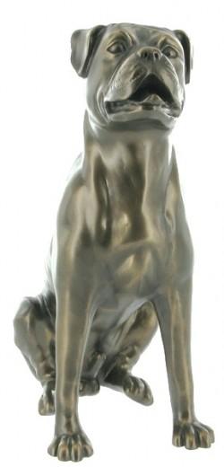 Picture of Boxer Bronze Sculpture