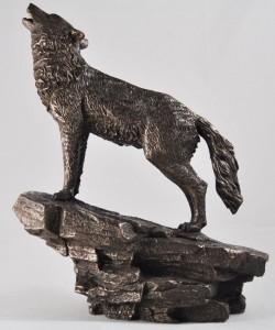 Picture of Wolf Bronze Figurine 23 cm