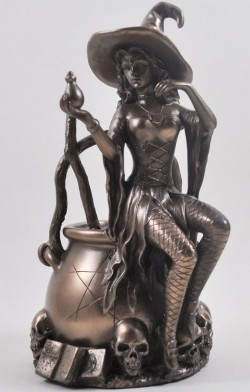Picture of Bronze Witch Figurine