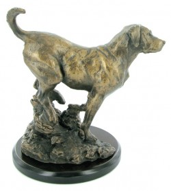 Picture of Labrador Bronze Dog Sculpture with Base (David Geenty)