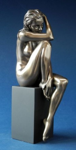Picture of Mia Nude Female Bronze Figurine on Plinth