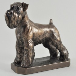 Picture of Schnauzer Bronze Dog Sculpture with Base (David Geenty)