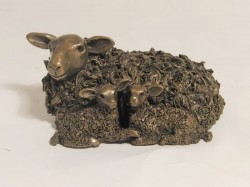 Picture of Ewe with Twin Lambs Bronze Figurine