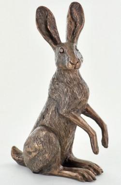 Picture of Poppy Standing Hare Bronze Sculpture (Harriet Glen)