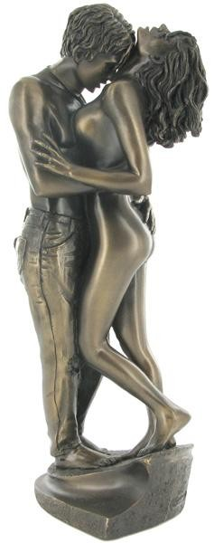 Picture of Passionate Lovers Bronze Figurine (Love is Blue)