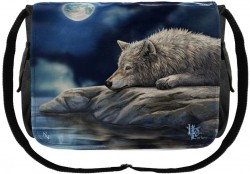 Picture of Wolf Quiet Reflection Messenger Bag (Lisa Parker)