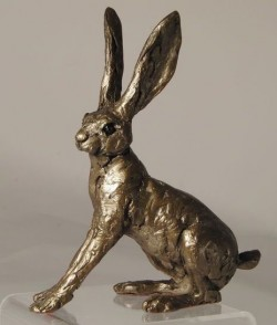 Picture of Alarmed Hare Bronze Figurine (Thomas Meadows)