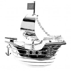 Picture of Silverplated Money Box Pirate Ship
