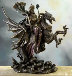 Picture of Dragon Rider Queen Bronze Figurine
