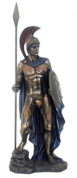 Picture of Ares Greek God of War Bronze Statue