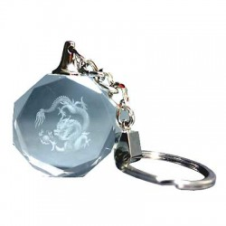 Picture of Chinese Dragon Laser Etched Keyring