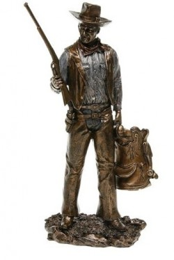 Picture of Cowboy with Rifle Bronze Figurine John Wayne