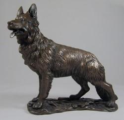 Picture of German Shepherd Bronze Dog Sculpture