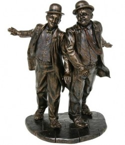 Picture of Laurel and Hardy Bronze Figurine