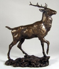 Picture of Highland Monarch Bronze Sculpture Figurine (David Geenty)