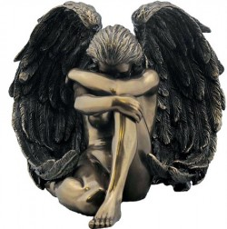 Picture of Sorrowful Angel Bronze Figurine
