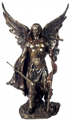 Picture of Archangel Gabriel Male Bronze Figurine 34 cm